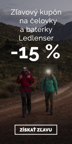 Extra zľava -15% na čelovky a baterky Ledlenser