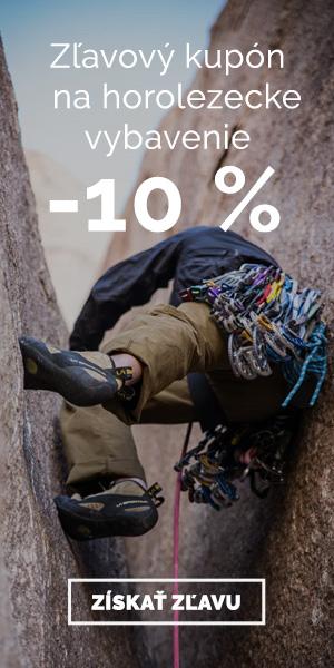 Extra zľava -10% na horolezecké vybavenie