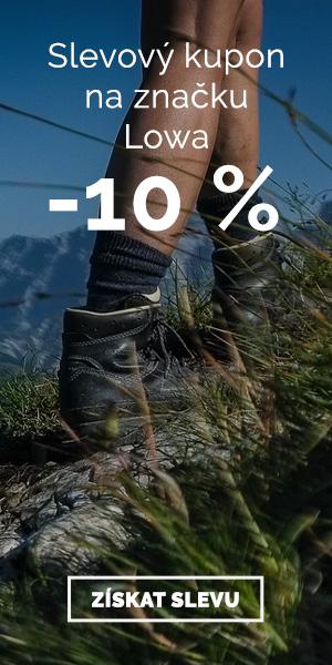 Extra sleva -10% na značku Lowa