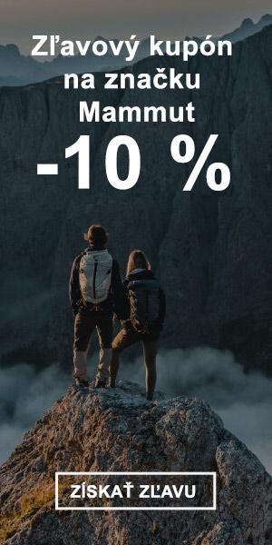 Extra zľava -10 % na značku Mammut
