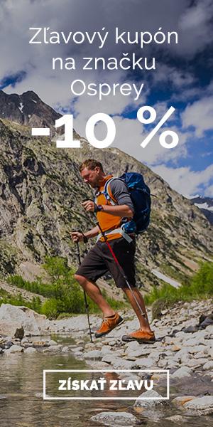 Extra zľava -10% na značku Osprey