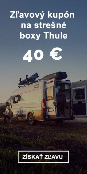 Extra zľava -40 € na strešné boxy Thule - LÉTO