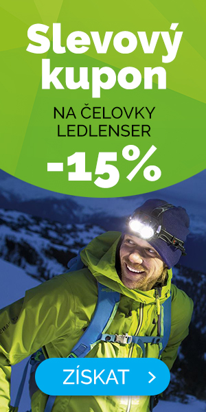 Dlouhodobé - EXTRA SLEVA 15% na čelovky a svítilny Ledlenser