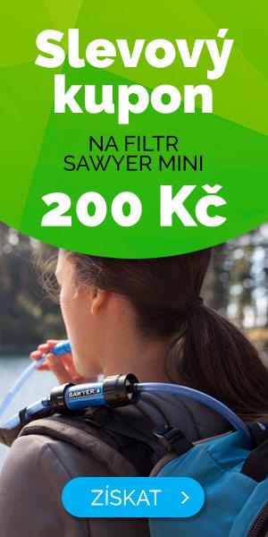 Slevový kupón 200 Kč na filtr Sawyer mini