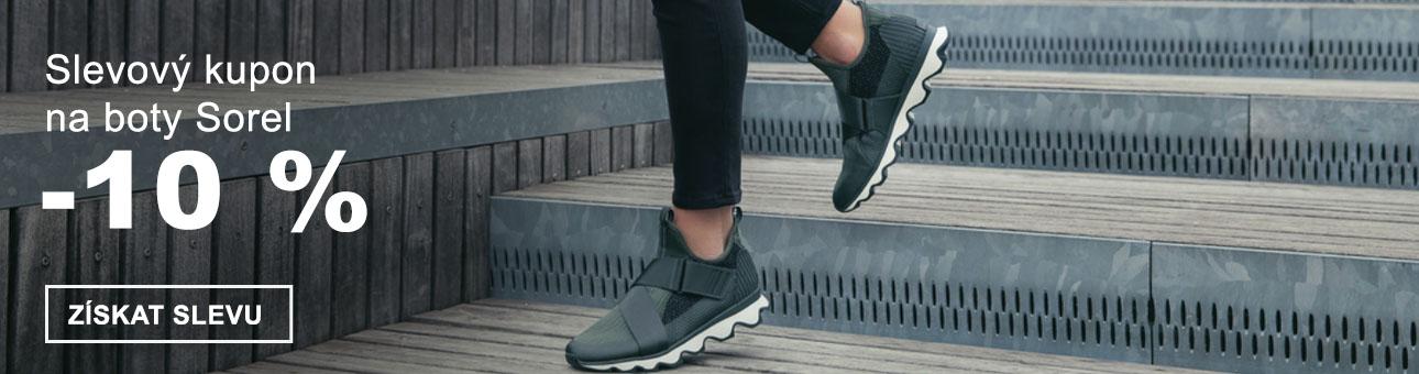 SLEVOVÝ KUPON -10 % na boty SOREL