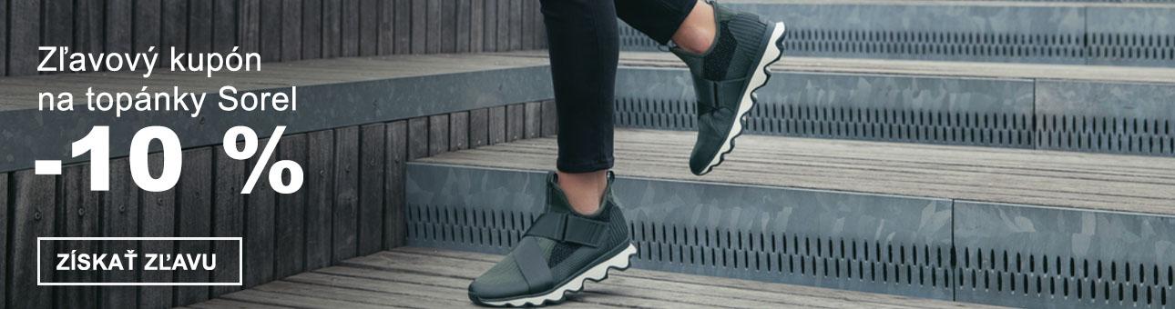 ZĽAVOVÝ KUPÓN -10 % na topánky SOREL