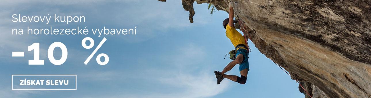 SLEVOVÝ KUPON -10 % na horolezecké vybavení