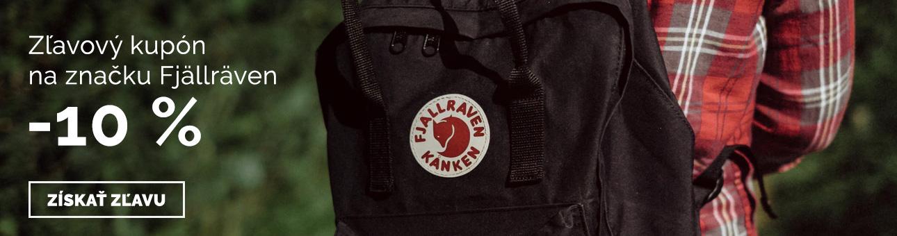ZĽAVOVÝ KUPON -10% na značku FJÄLLRÄVEN