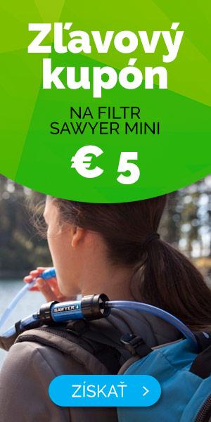Zľavový kupón 5 Euro na filter Sawyer mini